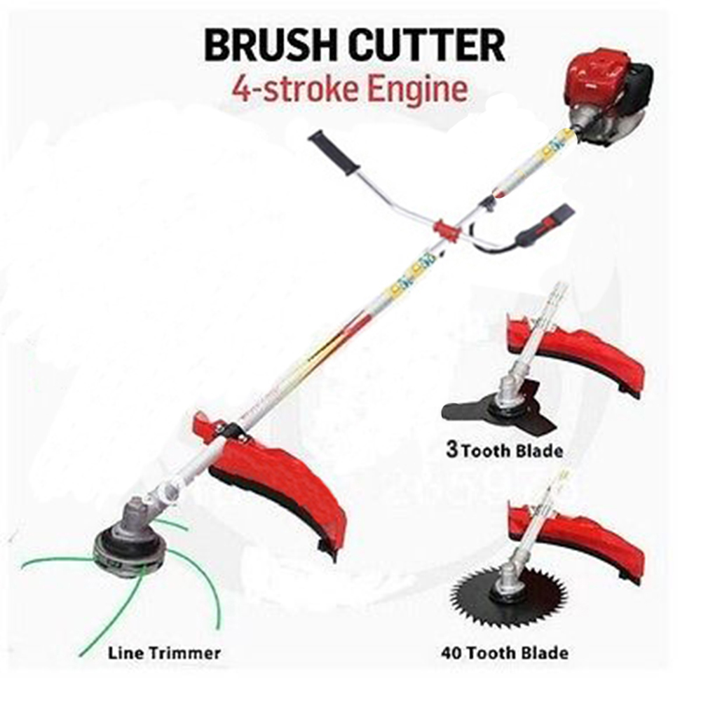 $ Professional trimmer cutter work 4 Stroke Engine GX35 Copy model brush cutter grass trimmer 3T blade 40T blade 3 in 1