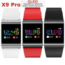 X9 Pro красочные Экран смарт-браслет шагомер крови Давление Watch Sport браслет сердечного ритма трекер PK Xiaomi Mi band 2