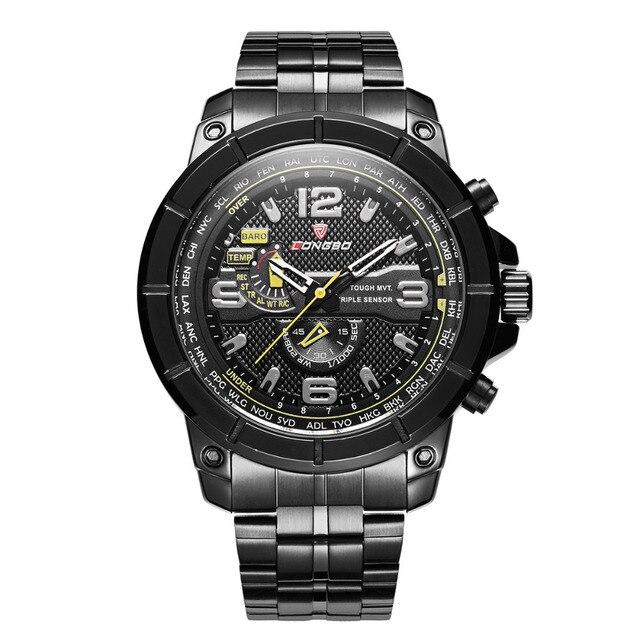 0302b9fe24f TOP Brand LONGBO Quartz Watch Luxury Steel Men Watch Fashion Sports  Wristwatch Clock Water proof relogio