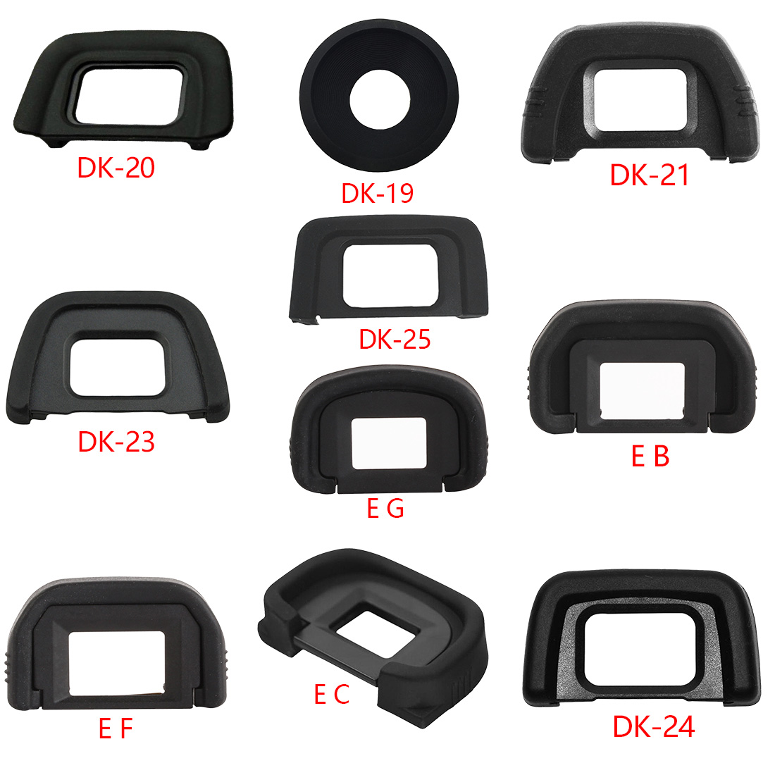 Eye-Cup Eyepiece Rubber Came DK-20 Nikon EG DK-19 Canon Slr EF EB for High-Quality New-Arrival
