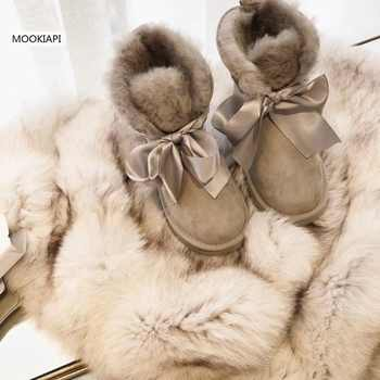 High-quality snow boots in Europe in 2019, real sheepskin, 100% natural wool, women shoes 5 colors Free Delivery - DISCOUNT ITEM  47% OFF Shoes