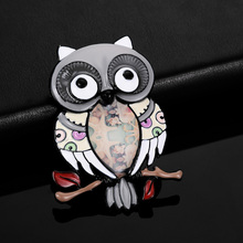 New Hot 2019 Enamel Pins Colorful Owl Brooch Cartoons Animal Brooches for Women Men Clothes Scarf Buckle Collar Jewelry