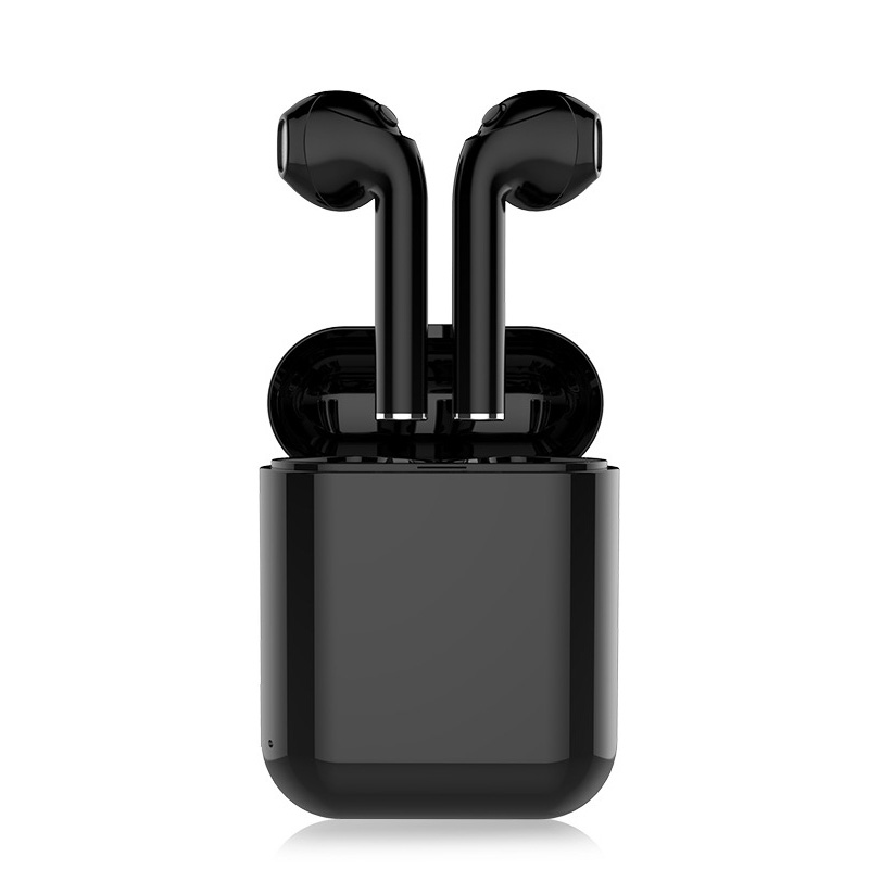 Wireless Noise Reduction Bluetooth Headset Stereo Earbud For Phone Mini Sports Running Bluetooth Headset With Mic Black White T7