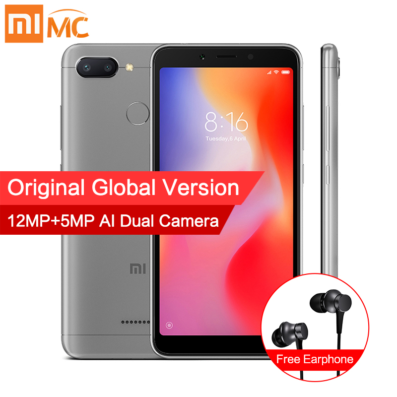 En Stock versión Global Xiaomi Redmi 6 4 GB 64 GB MTK Helio P22 Octa Core 5,45