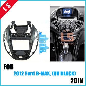 цена на 2 DIN Black Double Din Din Car refitting DVD frame,DVD panel,Dash Kit,Fascia,Radio Frame,Audio frame for 12 Ford B-MAX(UV BLACK)