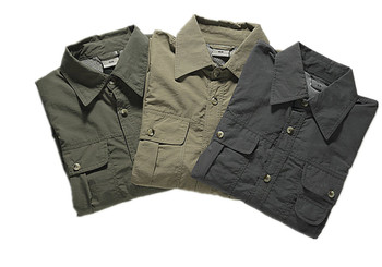 Mens Work Jacket   LANBAOSI Men's Convertible Sleeve Shirts Lightweight Quick Dry Breathable Hiking Camping Hunting Working Trekking Jackets Coat