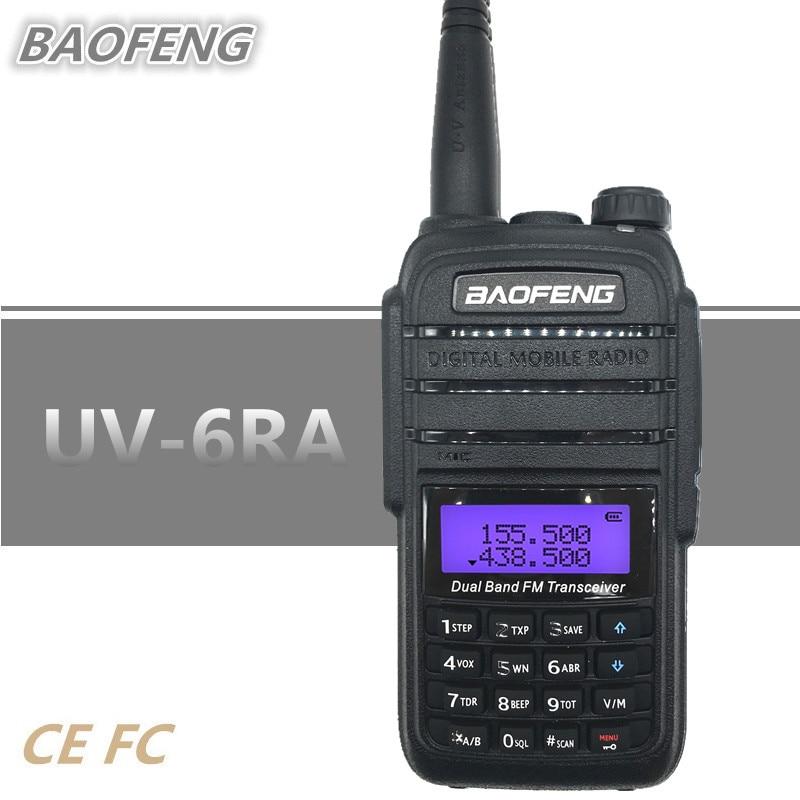 BAOFENG UV-6RA Walkie Talkie 5W UHF VHF Ham Two Way Radio Station VOX Scramble hf Mobile Transceiver Flashlight Rechargeable