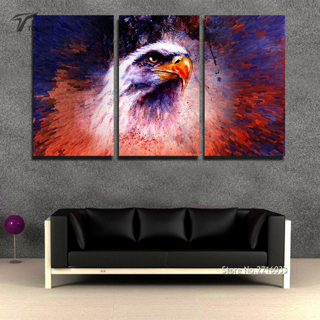 Unframed The Eagle Wall Art Canvas Home Decor Abstract Color Splash Canvas  Print Large Paintings For