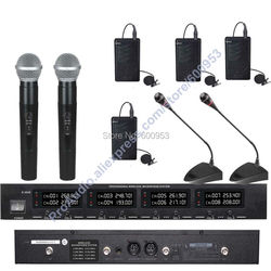 First-Class 8 Channel Digital Wireless Audio Handheld Lavalier Meeting Microphone Mic System