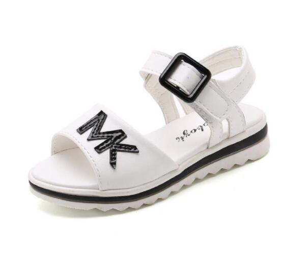 Children Sandals Shoes Causal Flat Girls Sandals Summer Soft Bottom Children Girls School Shoes