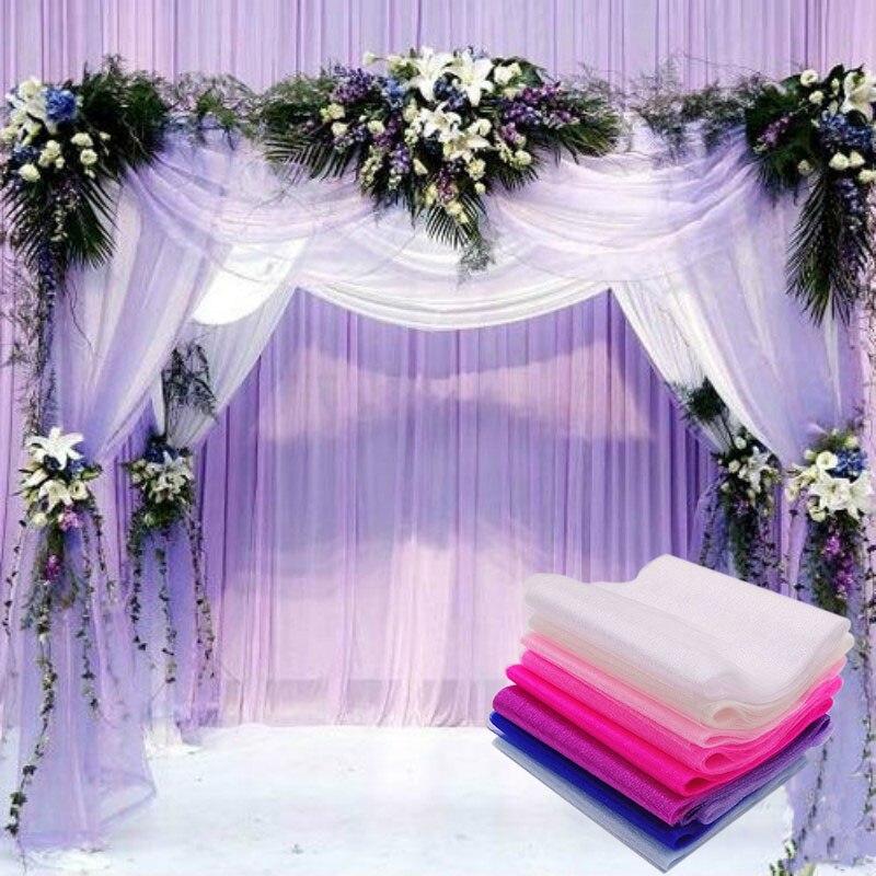 5m/lot 15cm Yarn Crystal Tulle Organza Sheer Gauze Baby Shower Birthday Party DIY Wedding Decorative Supplies Dropshipping