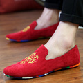 MOZOEYU Marca Moda Hombres Zapatos de Gamuza de Cuero Suave Zapatos Planos Resbalón Ocasional en Mocasines Holgazanes Hombres Hight Calidad de Conducción Pisos