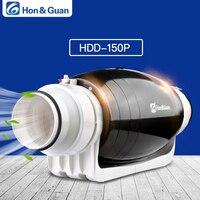Хон и Guan HDD 150P Вытяжной вентилятор бесшумного смешанного потока Встроенный канал для жилых и коммерческих Ванная комната вентиляции; 6 ''110 В/