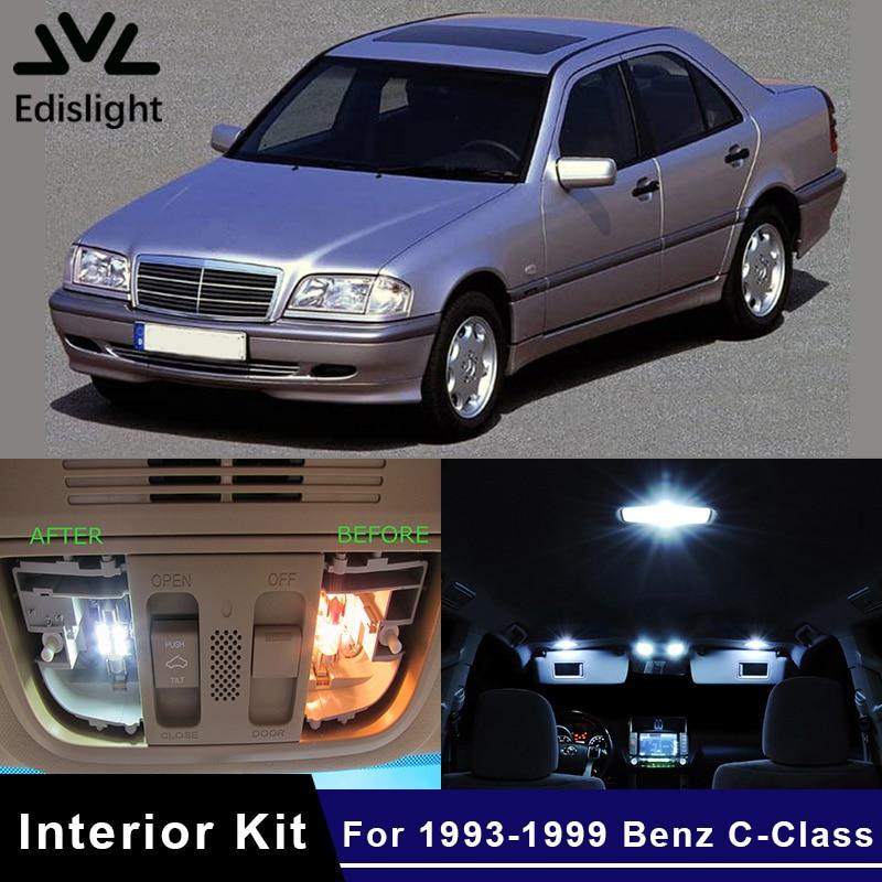Mercedes C-Class W202 55w Clear Xenon HID Low Dip Beam Headlight Bulbs Pair
