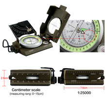 Military Army Geology Compass Sighting Luminous Compass