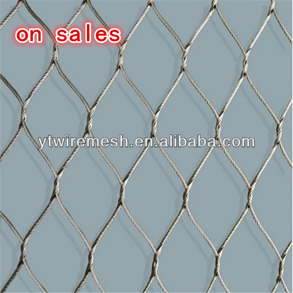 free shipping stainless steel cable mesh netting fence for safety-in ...