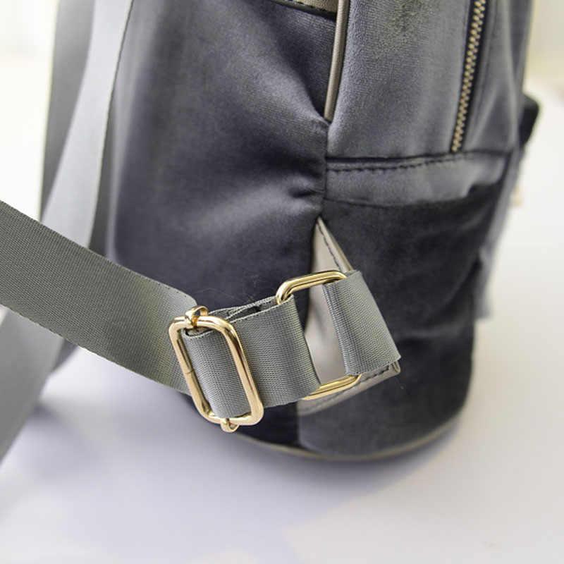 Gorąca sprzedaż moda kobiety aksamitne plecaki Pleuche Casual Style dziewczyny Mochila torby na zamek błyskawiczny nowy