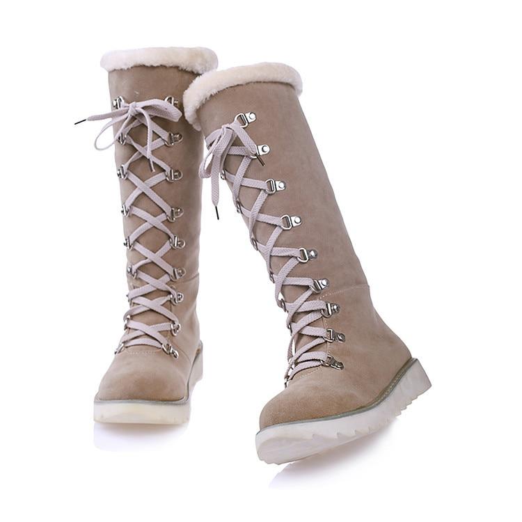 Casual O1386 Nouvelle 62 Belle Chaussures Chaud Mi army mollet Plat À Mujer Beige 25 Botas Neige D'hiver Bottes Chaussons Green orange Mode Femmes Hiver Pour Dames 4jLq5RA3