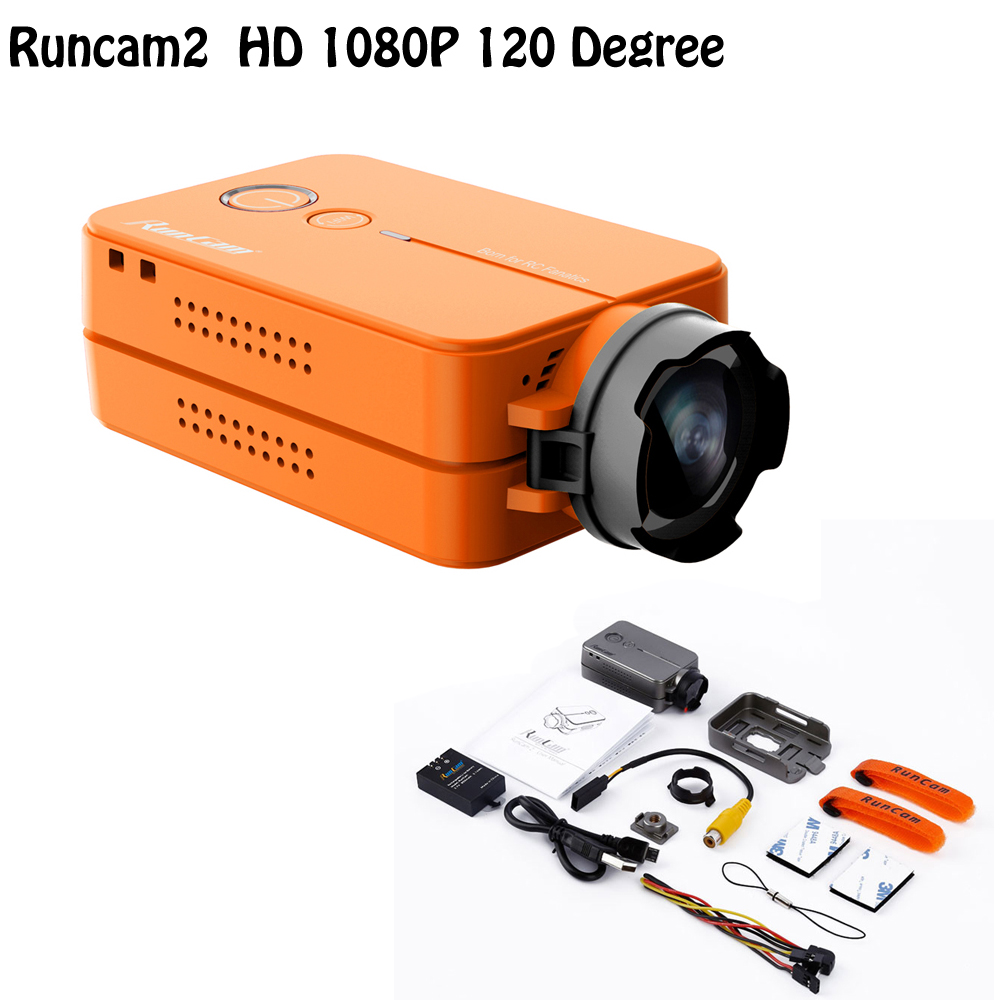 RunCam 2 1080P 60fps HD FPV Sports Camera Cross Racing Drone of Aerial Drones Quadcopter