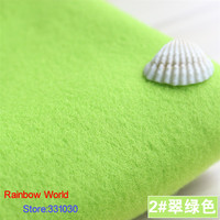 2 Light Green 1 Meter One Side Brushed Imitation Woolen Garment Fabric For DIY Colthes Overcoat