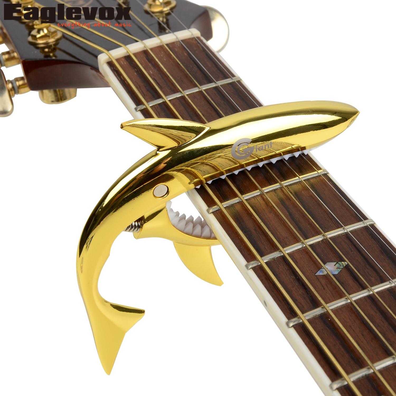 Zinc Alloy Shark Capo Cool Design for Acoustic Electric