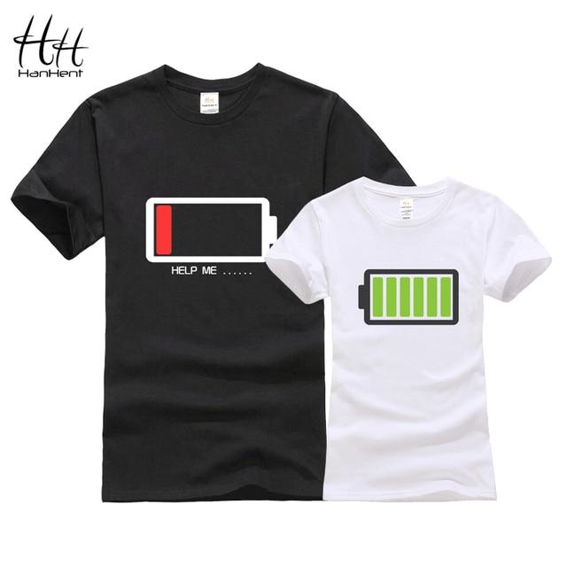Hanhent Батарея Дизайн пары футболка 3D сестры футболки модные братья Футболки для женщин с хлопком Для мужчин Футболки-топы женская одежда