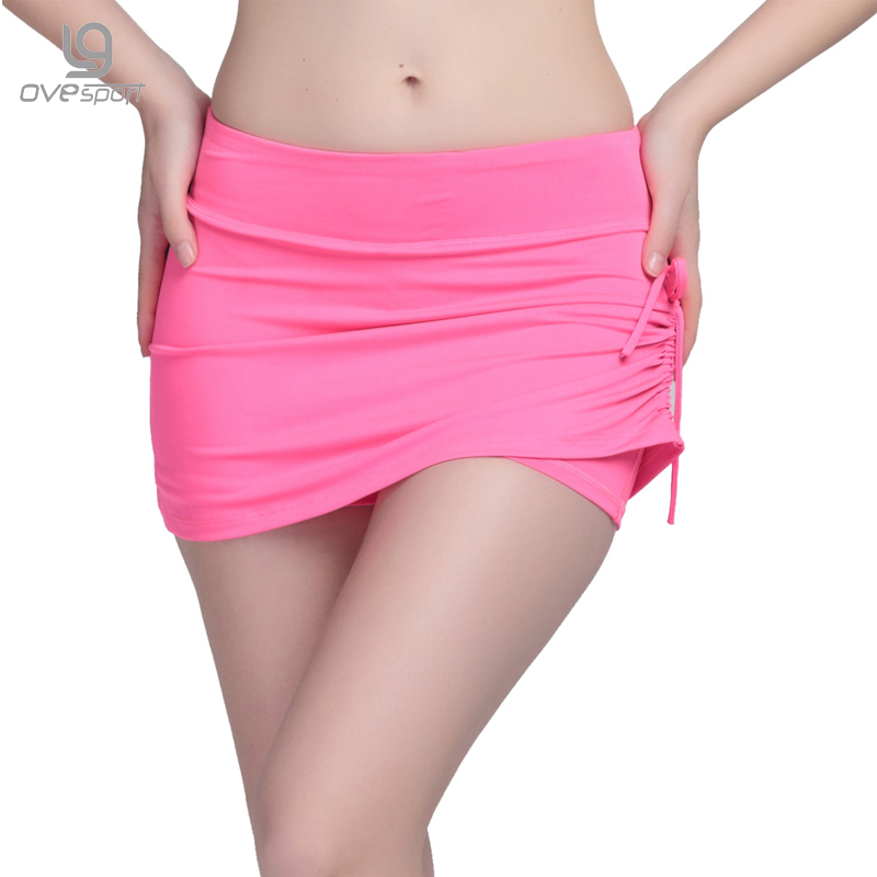 High Elastic Fitness Women Shorts Workout Bukser Fake Two Pieces Side Rope Pustende Quick-Dry Fashion Lady Shorts 2016