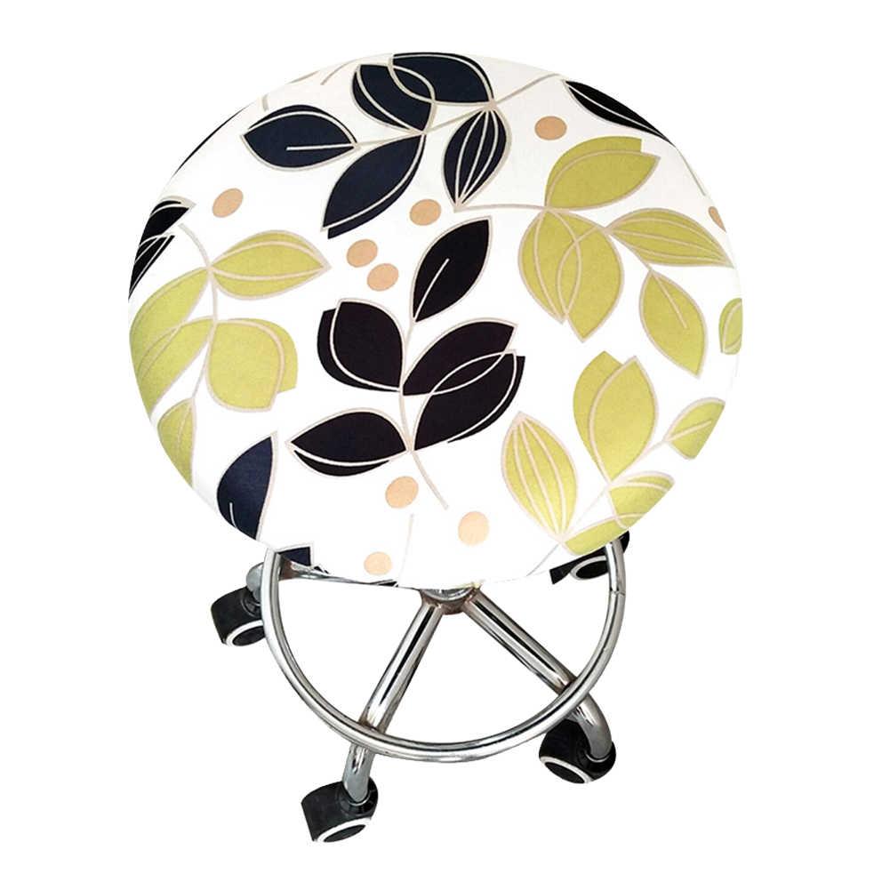 Офисный домашний бар мягкий орнамент для сиденья эластичный табурет с цветочным принтом полиэстер четыре сезона Slipcover круглый стул