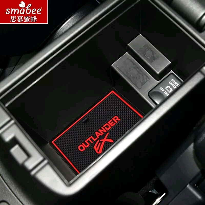 14pcs/set For Mitsubishi Outlander 2013 - 2016,Car Accessories 3D Rubber Mat Non-slip Mat Interior Door Groove Mat Smabee slogan print door mat