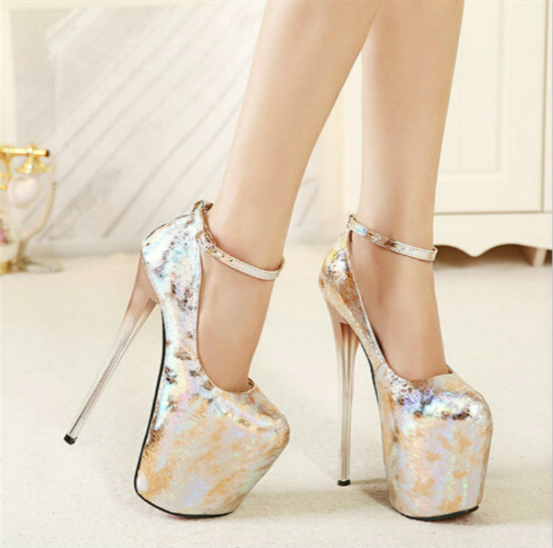 ФОТО 2015 ultra high thin heels 20cm women's fashion sexy shoes plus size 42 - 43 34 small yards