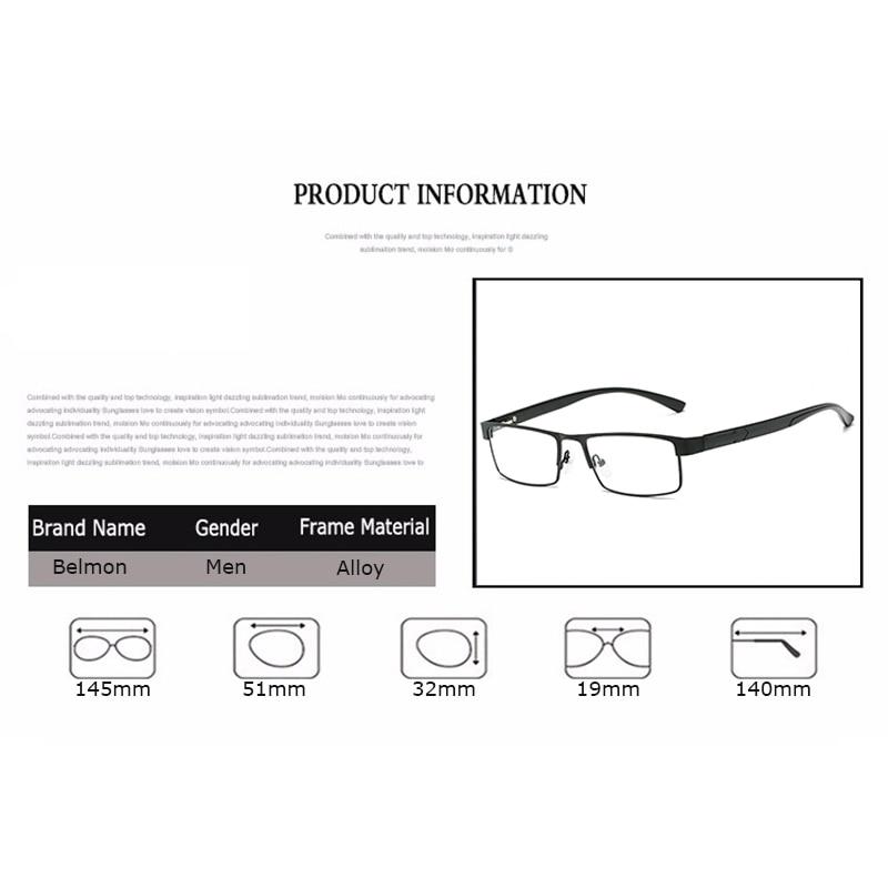 Belmon Reading Glasses Men Diopter Presbyopic Eyeglasses Degree Eyewear For Male +1.0+1.5+2.0+2.5+3.0+3.5+4.0 RS775