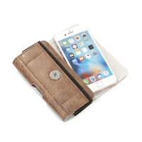 Horizontal Man Belt Clip Sports Artificial Mobile Phone Leather Case Card Pouch For ZTE Max XL
