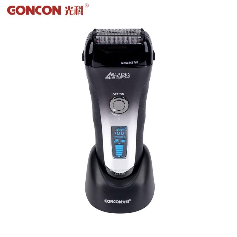 100 240V Electric Shaver Men Razor LCD Display 4 Blade Barbeador Washable Rechargeable Razor Beard Trimmer