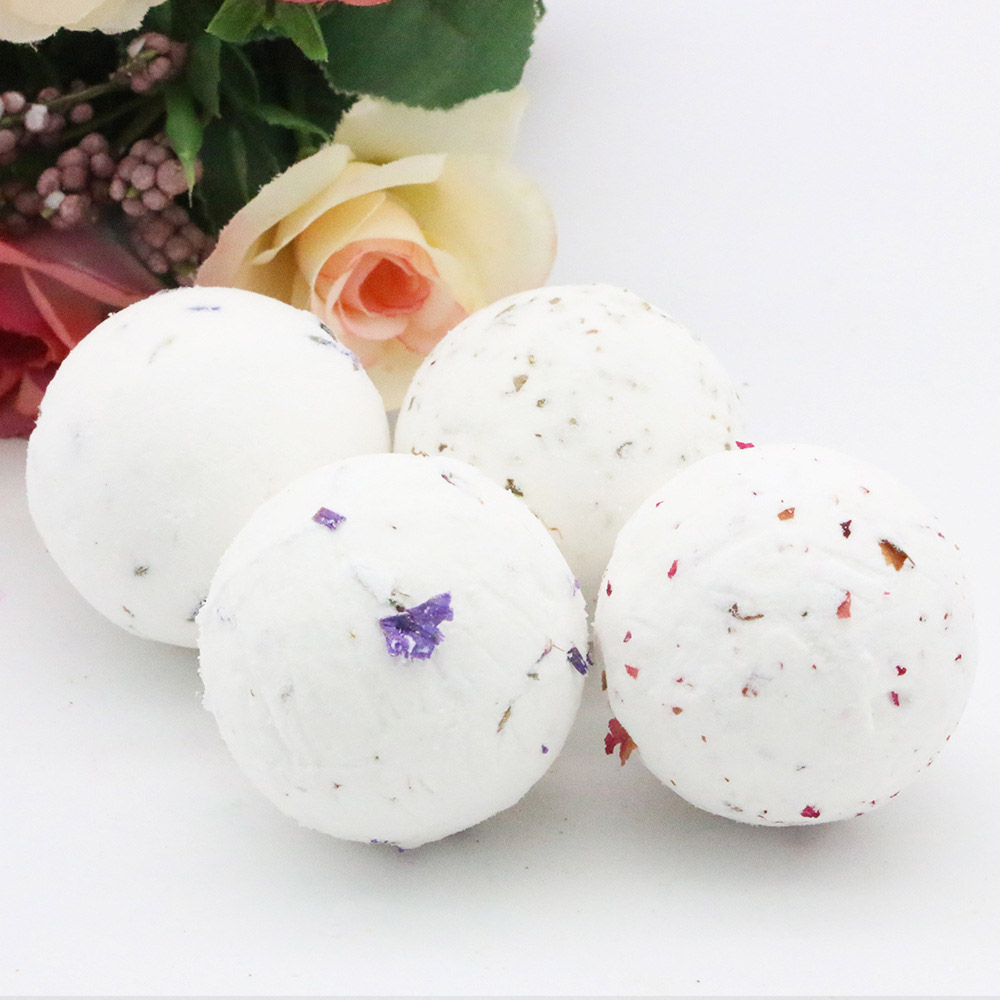 40g Bath Bomb Shower Fizzy,Natural Dried Flowers Spa Bomb Bath Salt Moisturizing Skin Spa Bomb Ideal Gift For Women