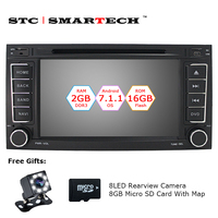SMARTECH 2 Din Android 7 1 2 OS Car DVD Touareg For VW Touareg T5 2004