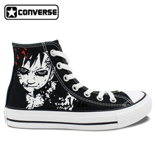 Gaara Love Hand-Painted Converse Sneakers