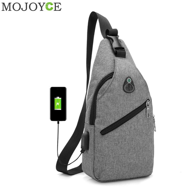 цена на Oxford Men Chest Pack Single Shoulder Strap Back Bag USB Charge Crossbody Bags for Women Sling Shoulder Bag Back Pack Travel