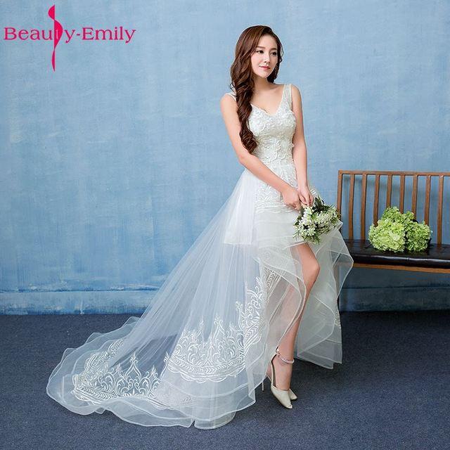 Beauty Emily White Luxury Beads Lace Up Plus Size Wedding Dresses ...