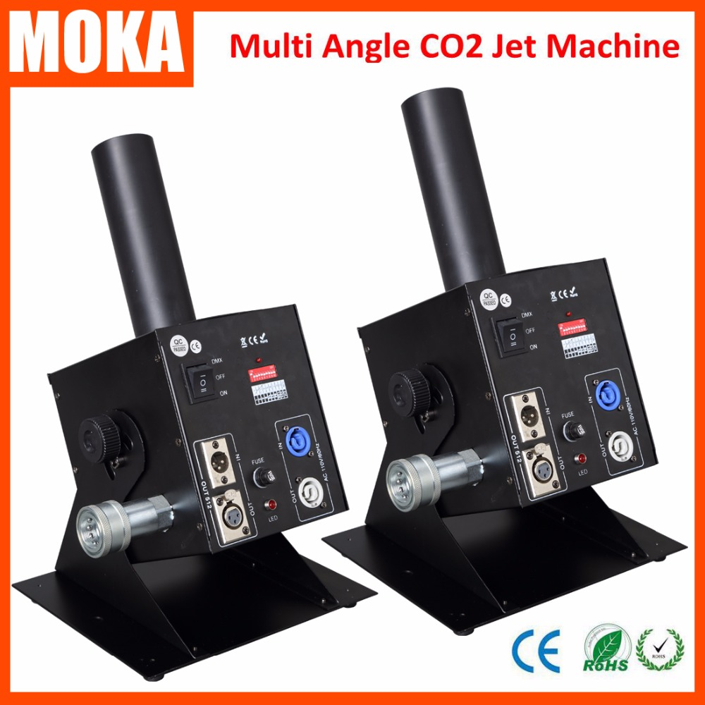 2 Pcs/lot stage effect fogger machine co2 jet machine DMX multi angle co2 jet Cannon machine Spray 8m
