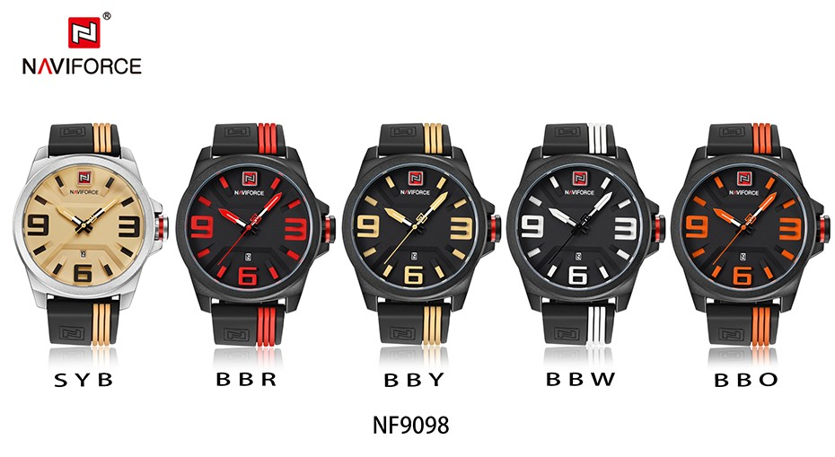 NAVIFORCE Mens Watches Top Brand Luxury Quartz Watch Men Full Steel Men Watch Sport Fashion Business Watches Relogio Masculino 7
