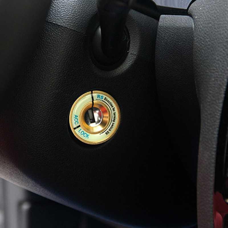 จุดระเบิดรถยนต์กุญแจสวิทช์สติกเกอร์ตกแต่งสำหรับ Skoda Octavia Fabia เยติ VW Passat Bora โปโลกอล์ฟ 6 jetta MK5 MK6