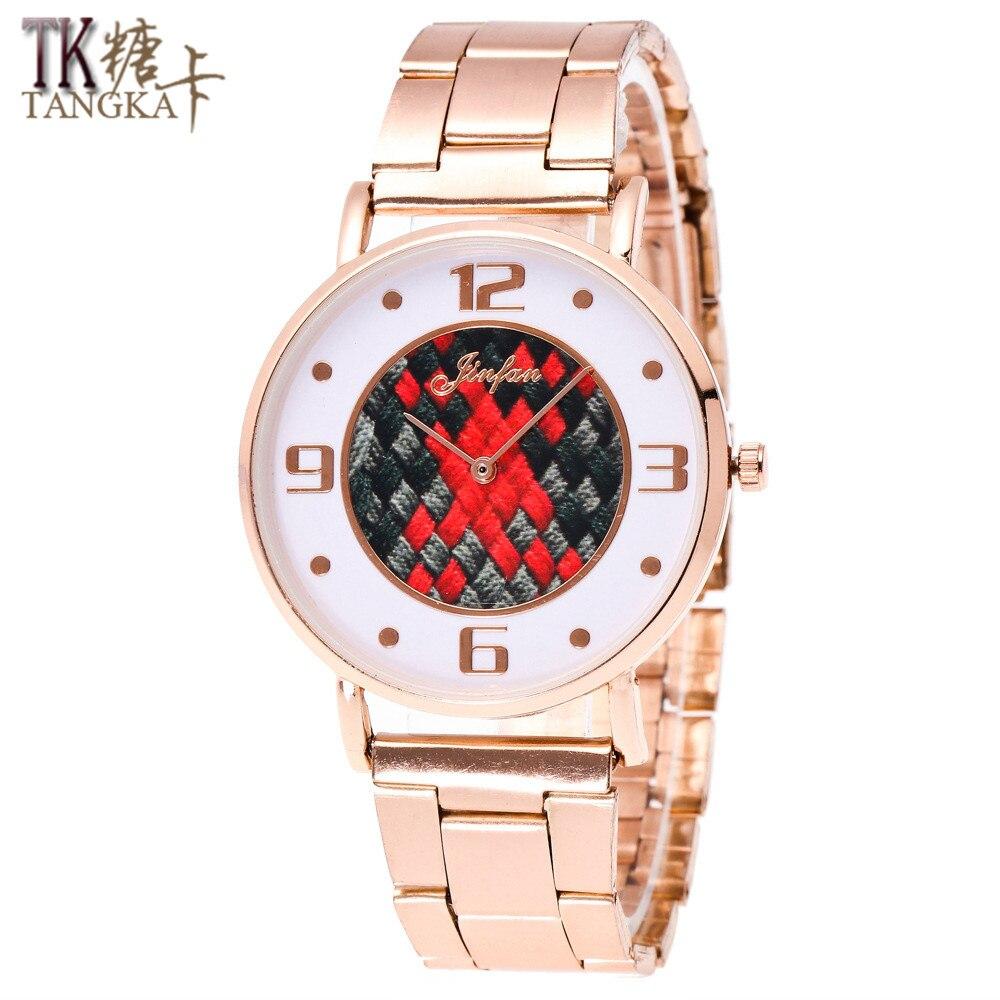 Geneva New Business  Simple And Elegant  Women Watch Clockwise Display Show Men Women Stainless Steel Quartz Watch