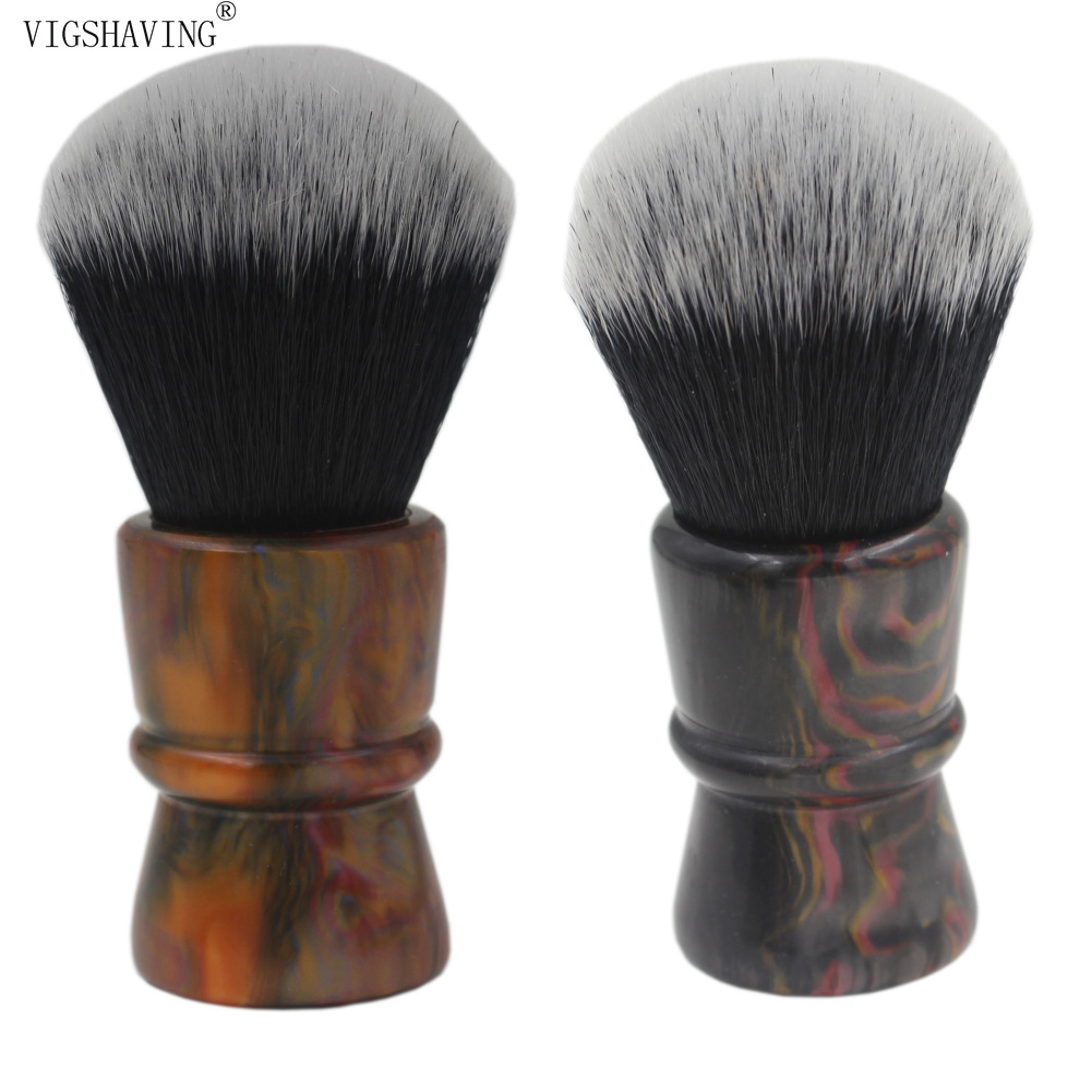 30mm Knot Colorful Resin Handle Black Synthetic Hair Shaving Brush