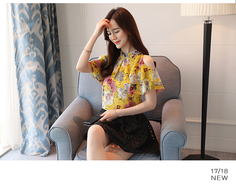 HTB1o1PeajvuK1Rjy0Faq6x2aVXar - fashion woman blouses print chiffon women blouse shirt off shoulder tops summer tops womens tops and blouses blusas 0175 60