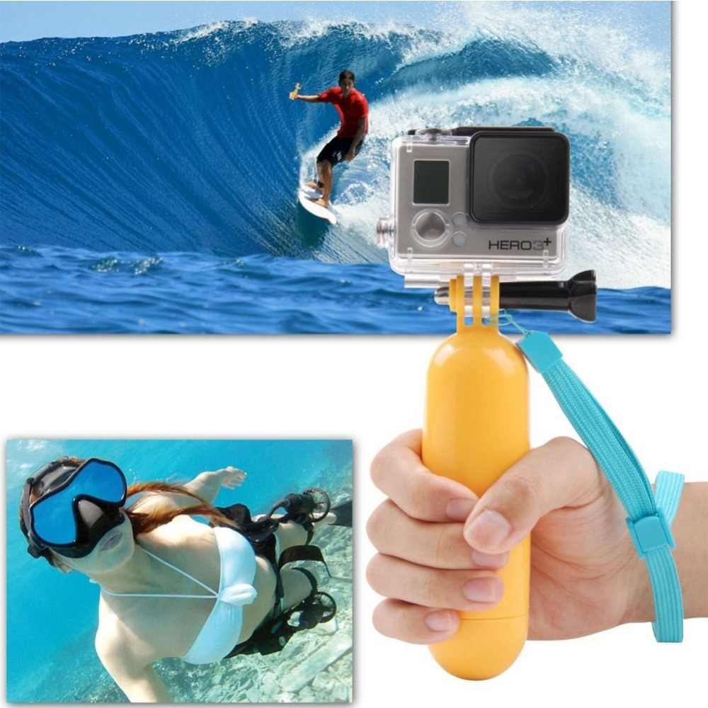 Sports camera accessory Floating Grip Handle Mount Buoyancy rods for EKEN H9 XIAOMI YI SJ4000 Hero