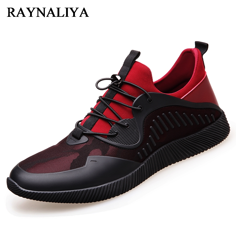2018 New Brand High Quality Shoes Men Walking Sneakers Black Red Lace Up Trendy Comfortable Mesh Fashion Shoes Autumn BH-A0038 brand 2018 new comfortable casual shoes loafers men shoes high quality driving shoes fashion trends spring and autumn bh a0054