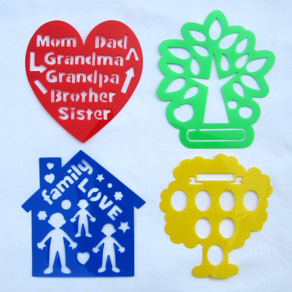 Aliexpress.com: Comprar 4 diseños árbol de familia plantillas niños ...