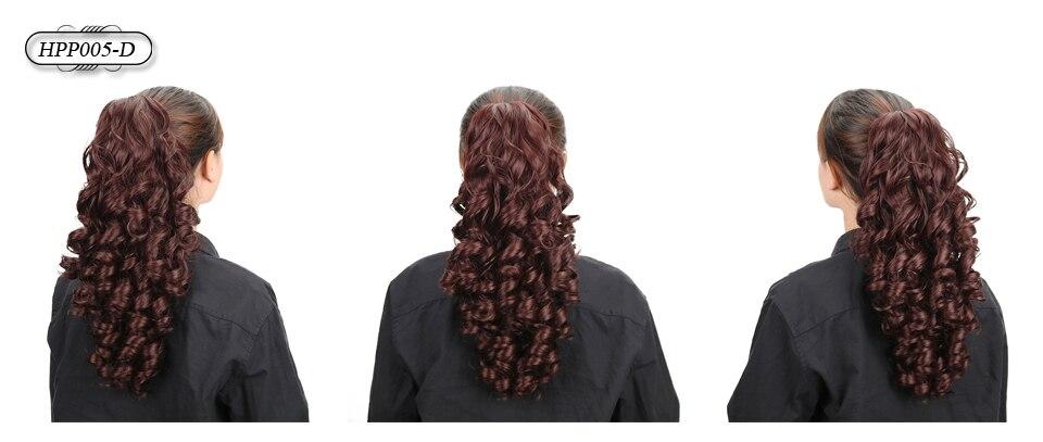 extensões de cabelo rabo de cavalo marrom