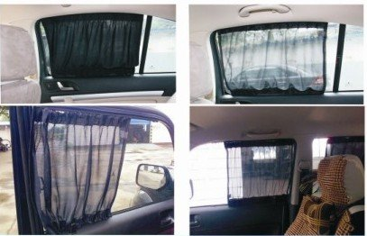 7047cm 3M Car Sun Shade Side Window Curtain Auto Curtains Suv