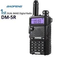 Baofeng DM-5R Dual Band DMR Digital&Analog Walkie Talkie VHF/UHF Ham Transceiver with 21cm Antenna Big Power Battery 1 Gen Radio